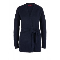 Wrap cardigan in blended wool by s.Oliver Red Label