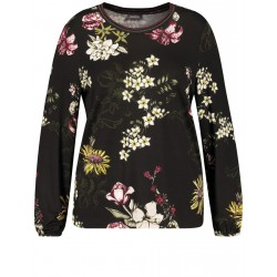 Long sleeve top with a floral print by Samoon