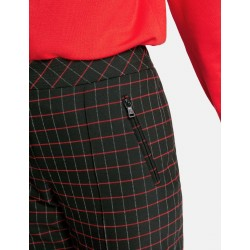 Trousers with contrasting colour checks by Gerry Weber Collection