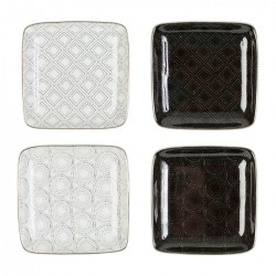 Box of 4 square plates by SEMA Design