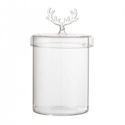 Glass with lid by Bloomingville