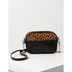 Shoulder bag with leopard print detail by Taifun