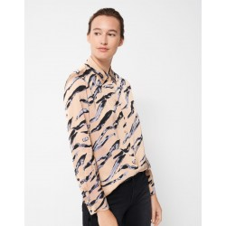 Blouse with print Zumera natural lines by someday