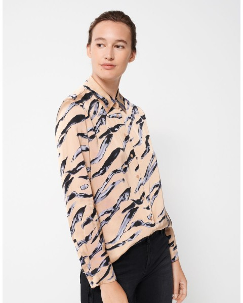 Printbluse Zumera natural lines by someday