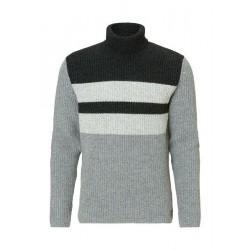Roll-neck jumper with lambswool cotton by Marc O'Polo