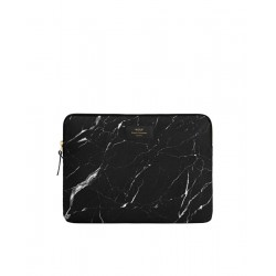 Black Marble Laptop Sleeve by WOUF