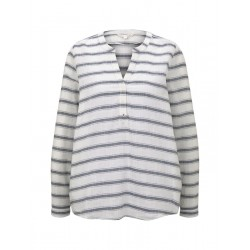 Striped Henley blouse by Tom Tailor Denim
