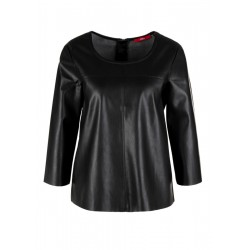 Fake Leather-Bluse by s.Oliver Red Label