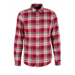 Slim: plaid flannel shirt by s.Oliver Red Label