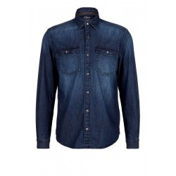 Regular: Denim shirt with wash by s.Oliver Red Label