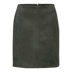 Skirt in velor look by Street One