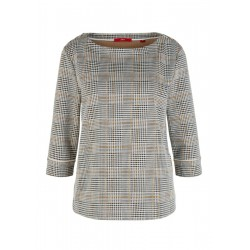 Jacquard-Sweatshirt mit Piping by s.Oliver Red Label