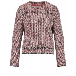 Short blazer with textured checks by Gerry Weber Collection