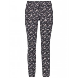 Slim Fit trousers with an all-over pattern by Gerry Weber Edition