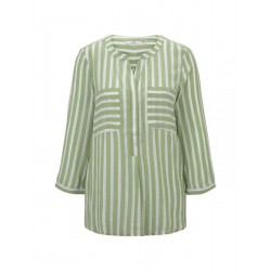 Striped blouse with pockets by Tom Tailor