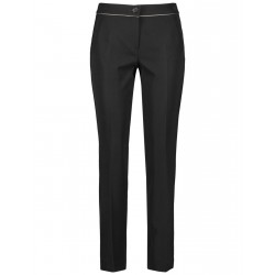 Trousers with contrasting piping by Gerry Weber Collection