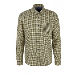 Regular fit: stretch shirt with fine checks by s.Oliver Red Label