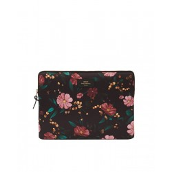 Laptop Sleeve Black Flowers by WOUF