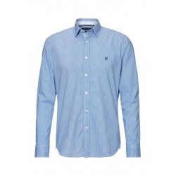Regular long-sleeve shirt in natural stretch fabric by Marc O'Polo