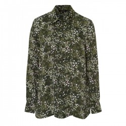 Camouflage Flower Shirt Blouse by More & More