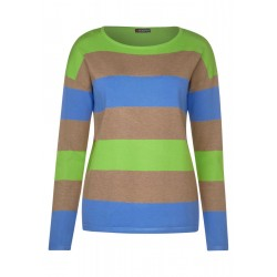 Block striped sweater by Street One