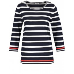 3/4-sleeve jumper with stripes by Gerry Weber Collection