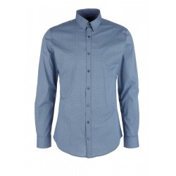Slim : chemise à motif all-over by s.Oliver Black Label