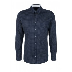 Slim Fit: shirt with an all-over pattern by s.Oliver Black Label