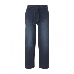 Culotte jeans with a tie belt by Tom Tailor