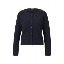 Short cardigan with a textured fabric by Tom Tailor
