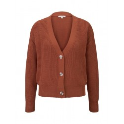 Short coarse knitted cardigan by Tom Tailor Denim