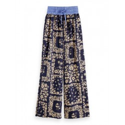 Printed Wide Leg Trousers by Maison Scotch