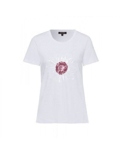 T-Shirt mit Pailletten-Blüte by More & More