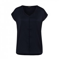 Blusenshirt mit Satinfront by More & More