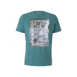 T-shirt with a photo print by Tom Tailor