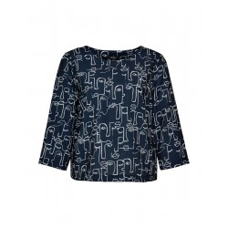 Printed blouse Falesha linear by Opus