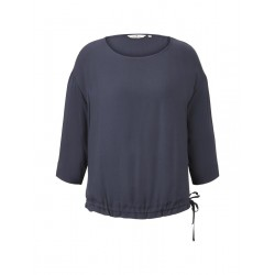 Blouse with drawstring by Tom Tailor