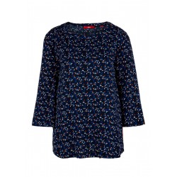Crêpe blouse with an all-over pattern by s.Oliver Red Label