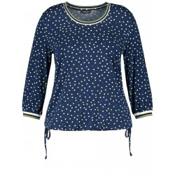 Casual 3/4-sleeve top with a drawstring by Samoon