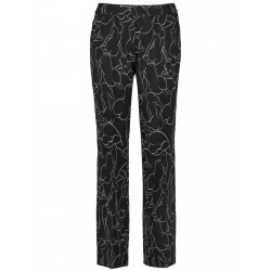 Wide trousers with an art print by Gerry Weber Casual