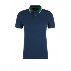 Polo shirt with a striped collar by s.Oliver Red Label