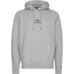 Logo embroidery cotton hoody by Tommy Hilfiger