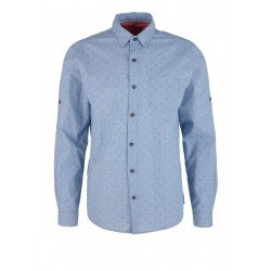 Slim Fit: shirt with a textured pattern by s.Oliver Red Label
