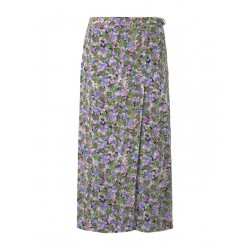 Patterned midi skirt in a wrap look by Tom Tailor