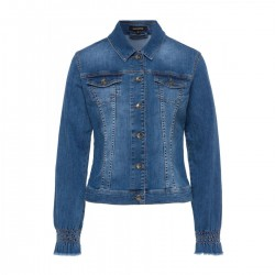 Denim Jacket with Smocking by More & More