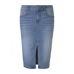 Midi denim skirt with a slit by Tom Tailor