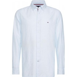 Cotton linen twill shirt by Tommy Hilfiger