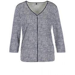 T-shirt with a box pattern by Gerry Weber Casual