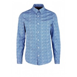 Slim Fit: shirt with an all-over pattern by s.Oliver Red Label