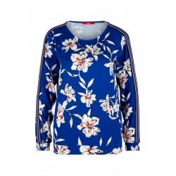 T-shirt manches longues à motif all-over by s.Oliver Red Label